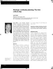 MIS300 Mod7 Strategic continuity planning- The first critical step..pdf