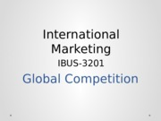 IBUS3201 Session 3- Global Competition(1)