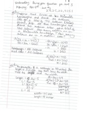 Calculations of Parameters