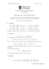 Answers to Linear Algebra Degree Exam 2013 (solutions)