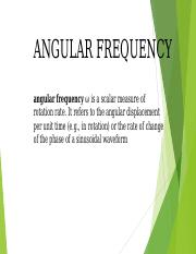 angular frequency sinusoidal wave