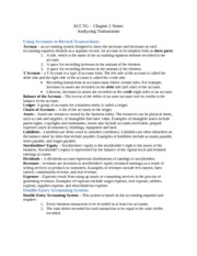 ACCTG Chapter 2 Notes