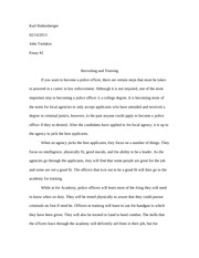 Recruiting and Training Essay