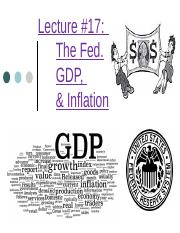 (17) Lecture 17 The Fed GDP and Inflation 11.12.15.pptx