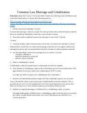 ALANA MURPHY Common Law Marriage and Cohabitation Assignment.docx
