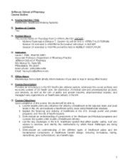 PHRM 519 Healthcare Delivery Systems Syllabus 2012 (3)