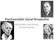 Week 3, Psychoanalytic Social Perspective