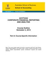 ACCT2542_Corporate_Financial_Reporting_and_Analysis_S22014_Part_A