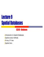 09 Spatial databases
