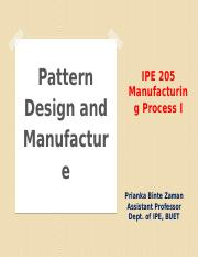 L6-Pattern Design and Manufacture