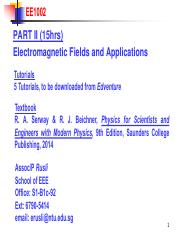 EE1002 AY1516 Chap 1 Electric Fields(1)