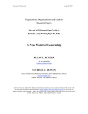 A New Model of Leadership - hrvd business school