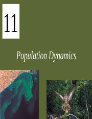 Lecture Ch11 Population Dynamics