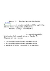 standard normal distribution notes