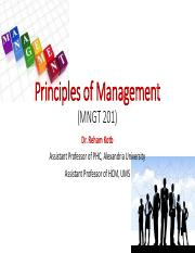 Principles of Management course overview