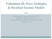 8. Lecture - Valuation II-eva and price multiples