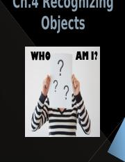 Ch.4 Recognizing Objects