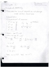 Class Notes Principles of Relativity