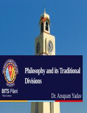 Philosophy and Its Traditional Divisions.pptx