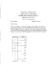 Midterm Exam B Solutions on Applied Elementary Number Theory