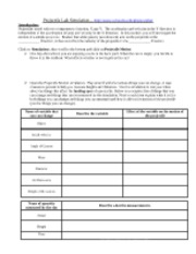 Printables Projectile Motion Worksheet online phet lab projectiles worksheet 1 name projectile 4 pages motion rev 10 2012