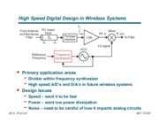 High Speed Digital Design in Wireless Systems notes