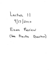 Exam 1 review problems