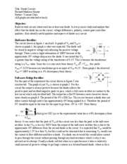Lab5 Diode Circuits