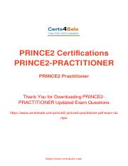PRINCE2-Practitioner Exam Dumps - Updated