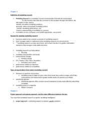 MARK 4000 Test 1 Class Notes