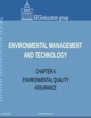 chapter 4 env quality assurance