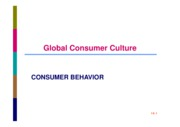 CB SESSION 9 GLOBAL CONSUMER CULTURE