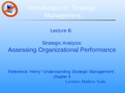 ch06 Assessing Organizational Performance