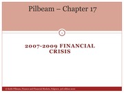 Lecture 9 - the 2007-09 financial crisis