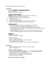 ANT253 LECTURE NOTES