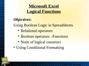 Lecture 6 Boolean Functions