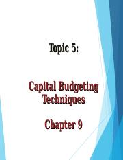capital budgeting technique.ppt