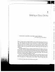 Writing Science Chapter 3 - Making a Story Sticky