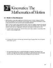 Workbook - kinematics - graphs & motion diagrams