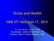 Stress and Health. HMB471. 14
