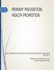 Primary Prevention Online