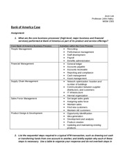 bank of america interview case study