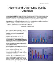 Alcohol and Other Drug Use by Offenders..docx