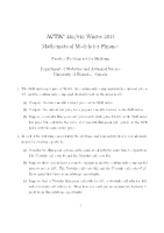 ACTSC 446 Practice Problems for Midterm and Solutions