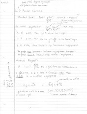 Notes on Rational Functions, Synthetic Division
