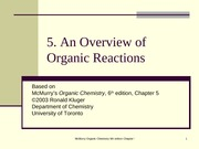 Chapter05- An Overview of Organic Reactions