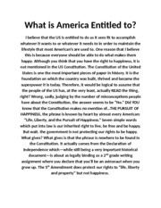 What is America Entitled to essay.docx