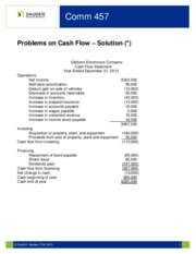 cash flow problems and solutions pdf