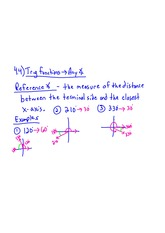 Trig Functions (any angle)Notes