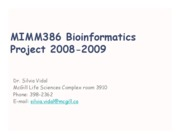 Introduction Bioinformatics Project